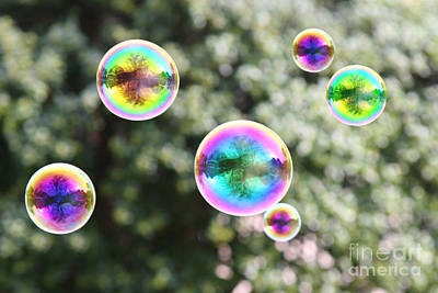 Rainbow Bubbles Poster by Suzi Nelson