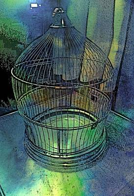 Rainbow Caged Poster by ARTography by Pamela Smale Williams