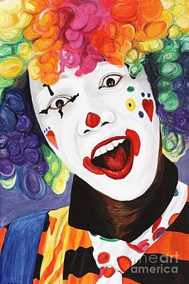 Rainbow Clown Poster by Patty Vicknair