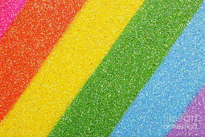 Rainbow Colors On Top Of A Box Poster by Sami Sarkis