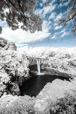 Rainbow Falls In Infrared 4 Poster