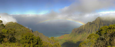 Rainbow Kalalau Valley Poster by Norman Blume