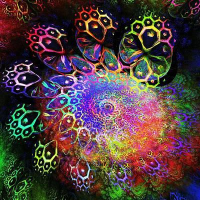 Rainbow Leopard Poster by Anastasiya Malakhova