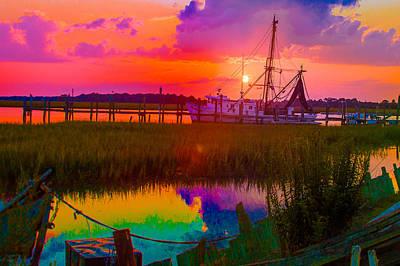 Rainbow Marsh Poster by Bonnes Eyes Fine Art Photography