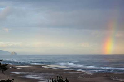 Rainbow On My Beautiful Beach Poster