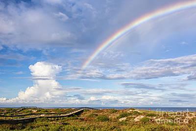 Rainbow Over Amelia Fernandina Beach Florida Poster