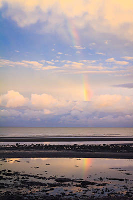 Poster featuring the photograph Rainbow Over Bramble Bay by Peta Thames