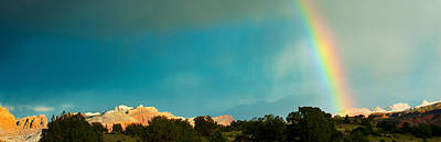 Rainbow Over Capitol Reef National Poster by Panoramic Images