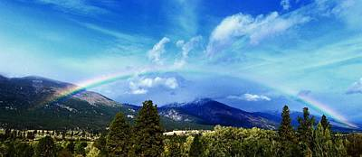 Rainbow Over Hamilton Montana Poster