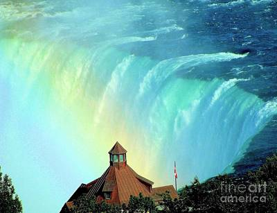 Poster featuring the photograph Rainbow Over Horseshoe Falls by Janette Boyd