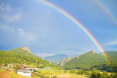 Rainbow Over Rollinsville Poster