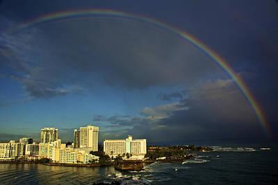 Rainbow Over San Juan Poster