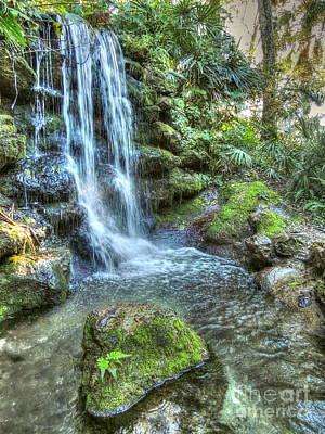 Rainbow Springs Waterfall Poster by Myrna Bradshaw