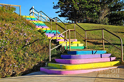 Rainbow Steps Poster by Kaye Menner