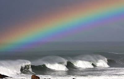 Rainbow Storm Poster by Ru Tover
