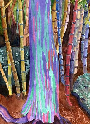 Poster featuring the painting Rainbow Tree by Lynne Reichhart