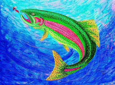 Rainbow Trout Poster by Cynthia Sampson