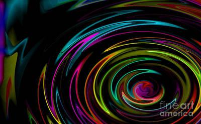Rainbow Whirlpool Poster