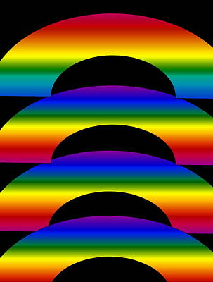 Poster featuring the digital art Rainbows by Gayle Price Thomas