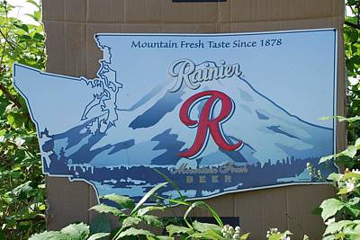 Rainier Beer Sign Poster by Mary Griffin