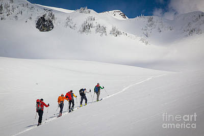 Rainier Snowshoers Poster by Inge Johnsson