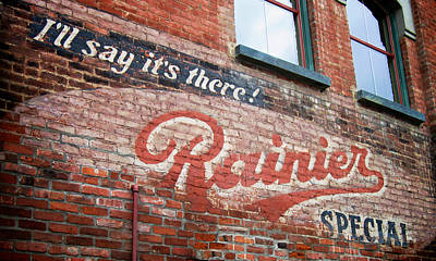 Rainier Special Poster by Mary Lee Dereske