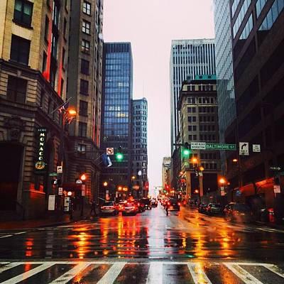 Raining In Baltimore Poster by Toni Martsoukos