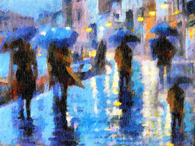 Raining In Italy Abstract Realism Poster by Georgiana Romanovna
