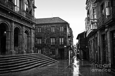 Raining In Pontevedra Bw Poster by RicardMN Photography