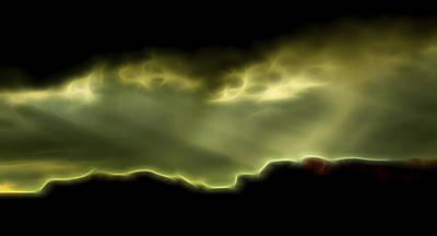 Poster featuring the digital art Rainlight 1 by William Horden