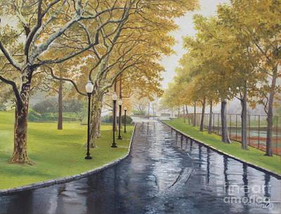 Rainy Afternoon At Montauk Poster by Barbara Barber