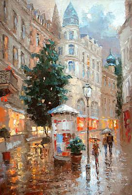 Rainy Baden Baden Poster