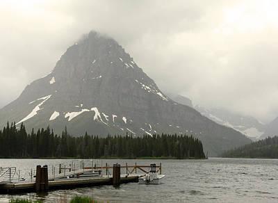Rainy Day At Glacier National Park Poster