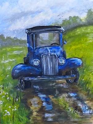 Rainy Day Truck Poster by Heather Shertzer