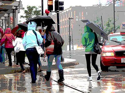 Rainy Daze Poster by Barbara McDevitt