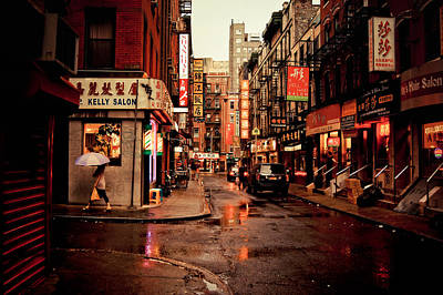 Rainy Street - New York City Poster by Vivienne Gucwa