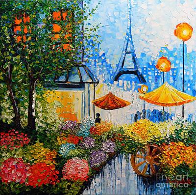 Joy In Paris Poster by Denisa Laura Doltu