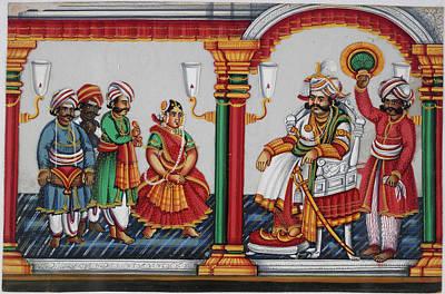 Raja Sarabhoji Of Tanjore Poster