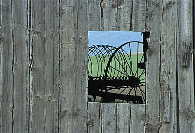Rake And Barn Poster by Latah Trail Foundation