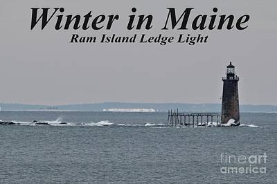 Ram Island Ledge Light_9941 Poster by Joseph Marquis