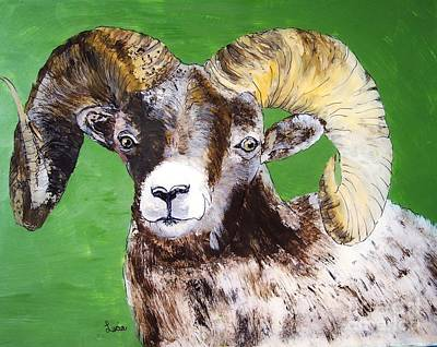 Poster featuring the painting Ram by Lucia Grilletto