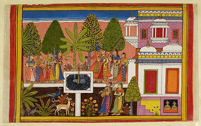 Rama And Sita Are United In Marital Happi Poster by British Library