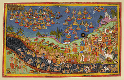 Rama Enters Heaven Poster by British Library