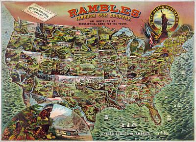Rambles Through America Poster by Georgia Fowler
