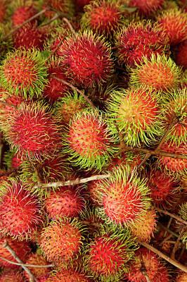 Rambutan Fruit At Can Duoc Market, Long Poster