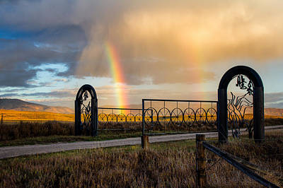 Ranch Rainbow Poster by John McArthur