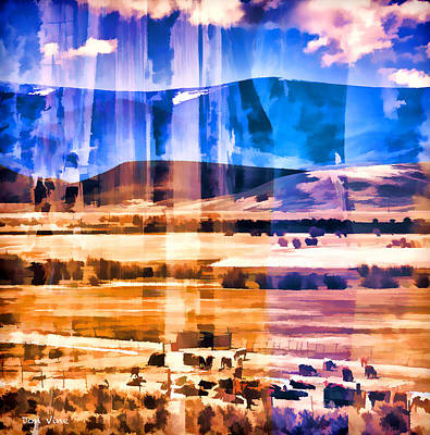 Ranchland Abstracted  Poster