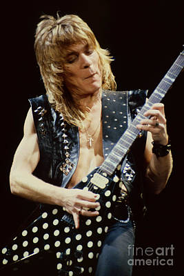 Randy Rhoads At The Cow Palace During Guitar Solo Poster