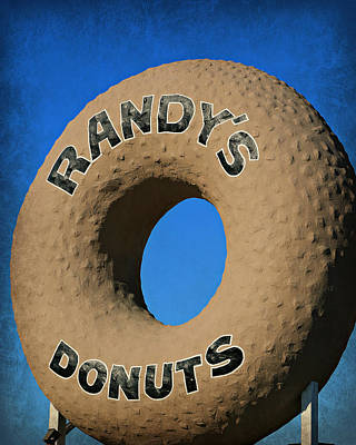 Randy's Big Donut Poster by Stephen Stookey