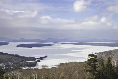 Rangeley Maine Winter Landscape Poster